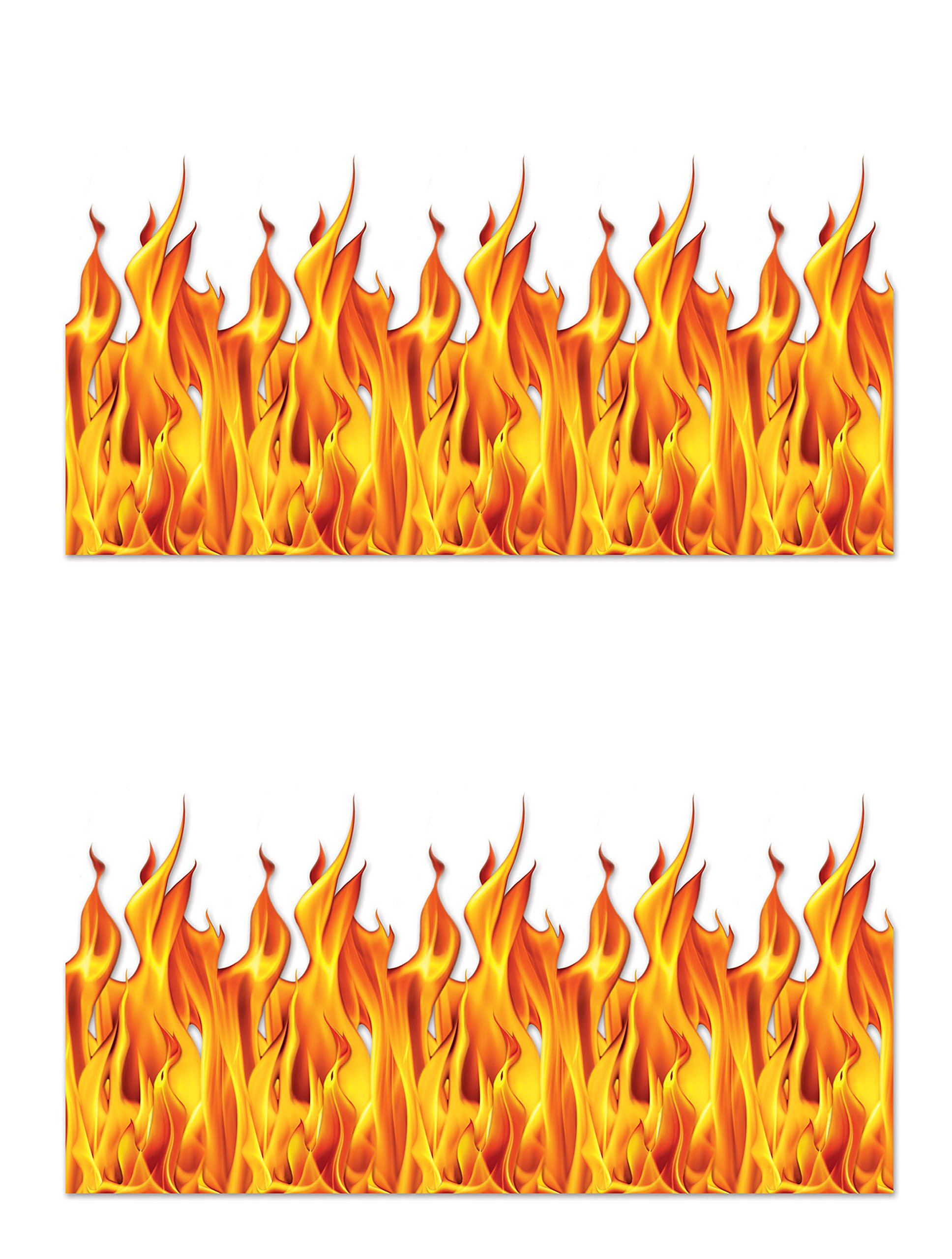 Beistle S00899AZ2 Flame Backdrop 2 Piece, Multicolored by Beistle