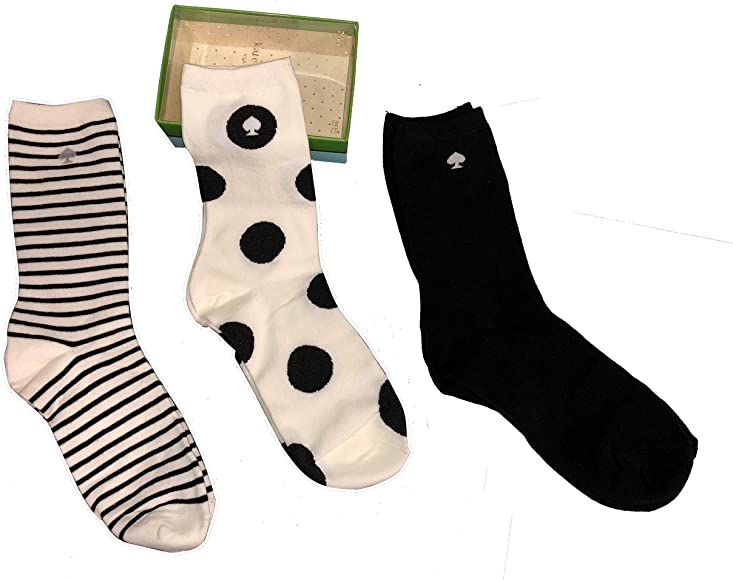 Kate Spade New York Women/'s 3-Pack Trouser Socks One Size Gift Box