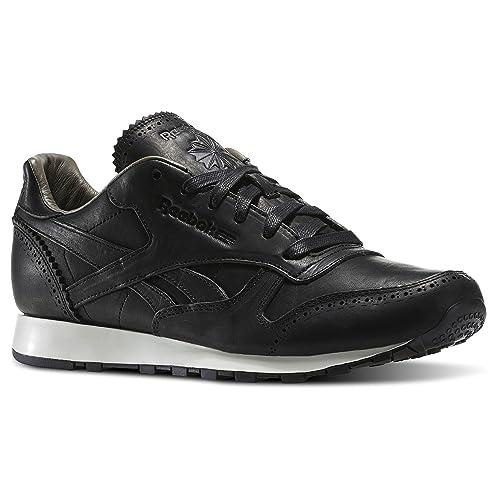 edb6e143528 REEBOK CL LEATHER LUX H 40 5 Negro  Amazon.es  Zapatos y complementos