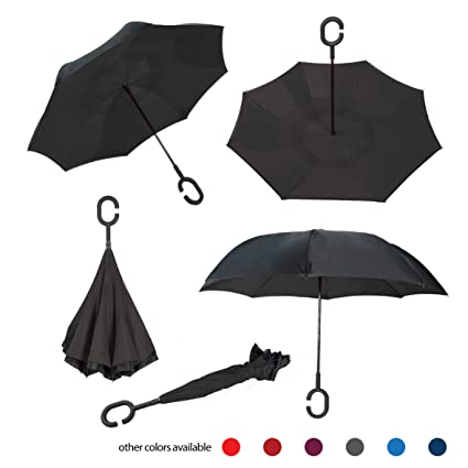 Amazon.com : Brellax Inside Out Umbrella by Inverted Umbrella - Windproof Double Layer Reversible Umbrella - Foldable, Practical and Easy to Use - Ideal for ...