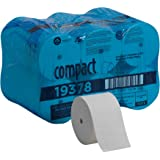 Compact Coreless 2-Ply Recycled Toilet Paper by GP PRO (Georgia-Pacific), 19378, 1,500 Sheets Per Roll, 18 Rolls Per…