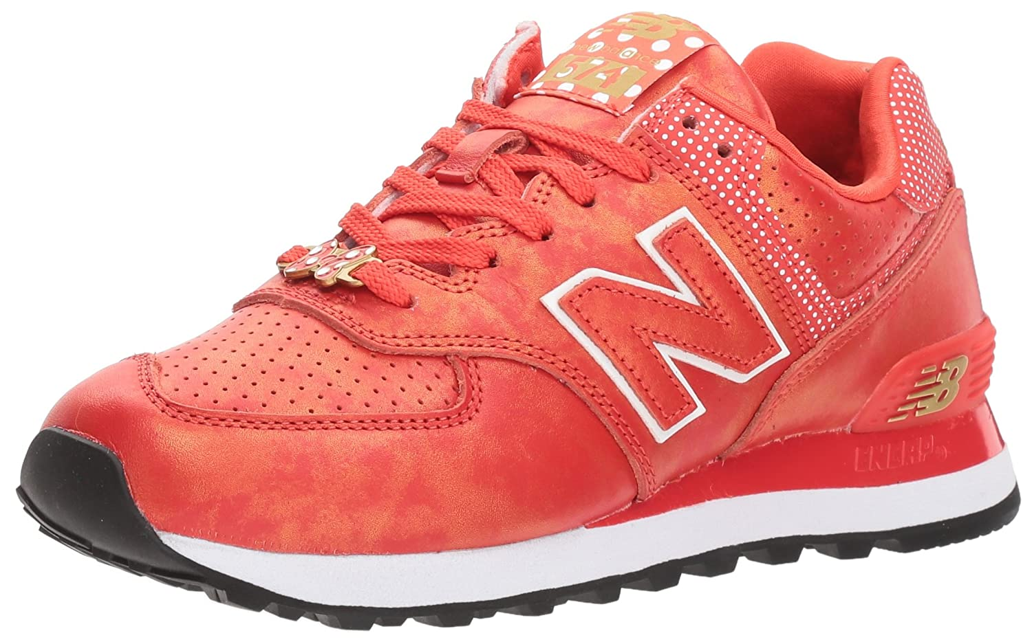 New Balance Women's Minnie Rocks The Dots Wl574v2 B0744NK1WK 6.5 B(M) US|Red