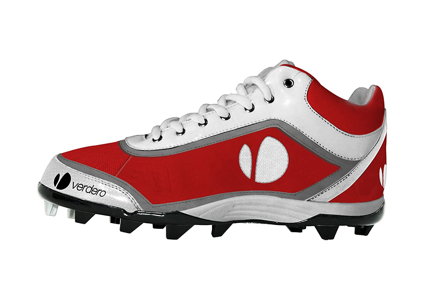 Verdero m-spike Molded Baseball Cleats B004P50P74 Size 14|レッド/ホワイト レッド/ホワイト Size 14