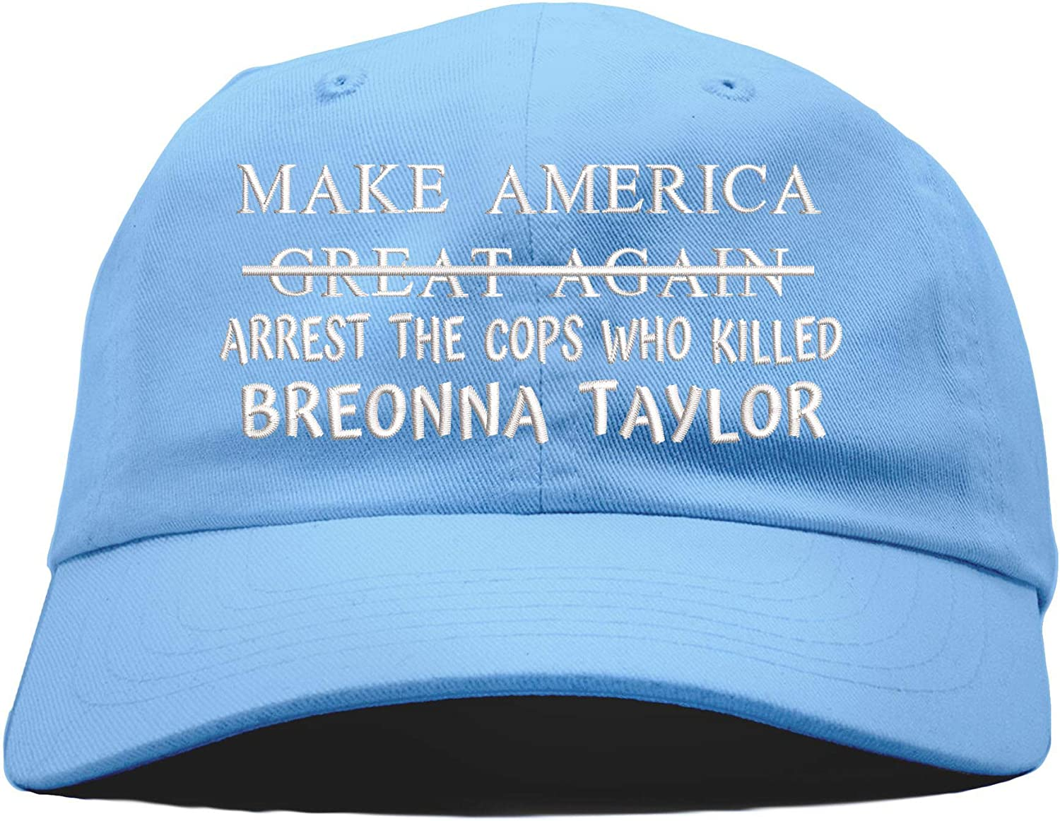Amazon Com Top Level Apparel Arrest The Cops Who Killed Breonna Taylor Embroidered Low Profile Baseball Dad Hat Babyblue Clothing