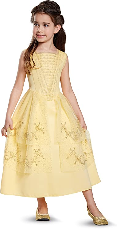 BEAUTY AND THE BEAST BELLE DELUXE CHILD COSTUME Disney Princess Yellow 3T-8T