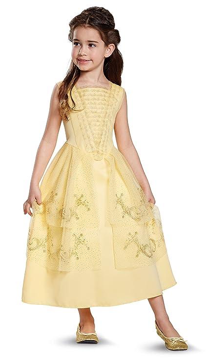 Amazon.com: Disney Belle Ball Gown Classic Movie Costume, Yellow, XS ...