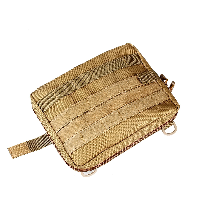 Admin Gadget utilidad negro t/áctico Extra grande mochila cintur/ón c/ámara EDC de primeros auxilios para chaleco Nylon organizador r/ápido Sistema MOLLE
