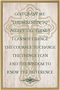 Grasslands Road Serenity Prayer Plaque - - Irish Home Décor - Irish Gifts - Hanging Wall Décor - St Patricks Day Decorations, MDF, 12 by 8 Inches