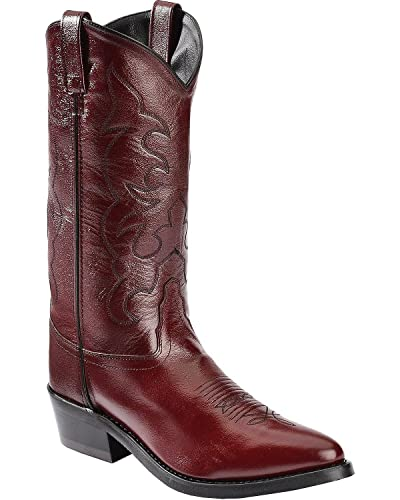 eaaac0cc182 Old West Men's Trucker Western Work Boot Black Cherry 9.5 D(M) US
