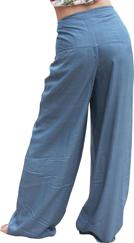 RaanPahMuang Light Silky Rayon Viscose Front Tie Yoga Rabbit TIe Pants Petite