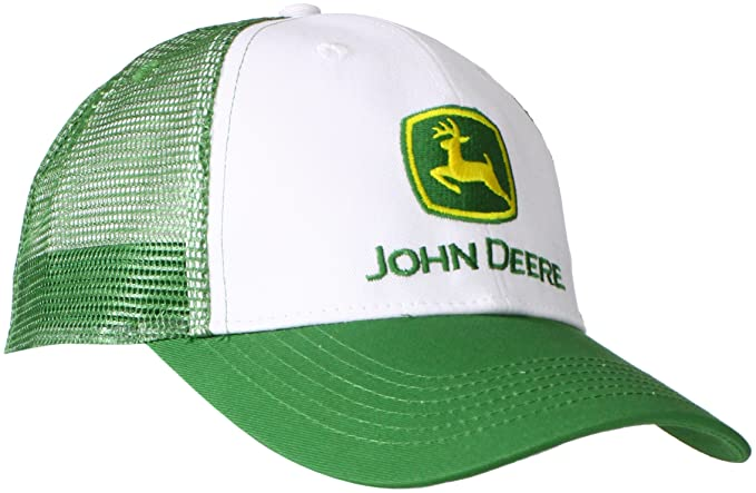 John Deere Logo 6 Panel MESH Back White at Amazon Men s Clothing ... 71f67d27b04