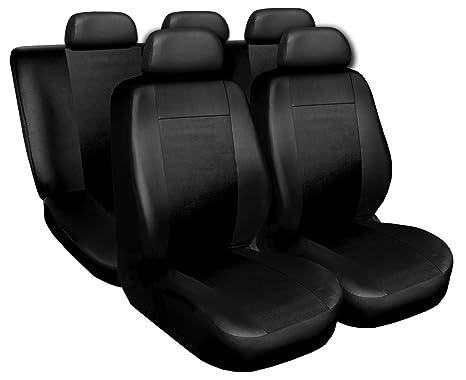 Premium Kunstleder Sitzbezüge Sitzbezug Schonbezüge für VW Fox Schwarz Set