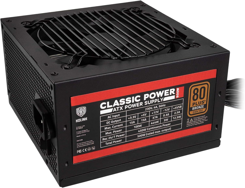 Kolink Classic Power 80 Plus Bronze Pc Netzteil 500 Computer Zubehör