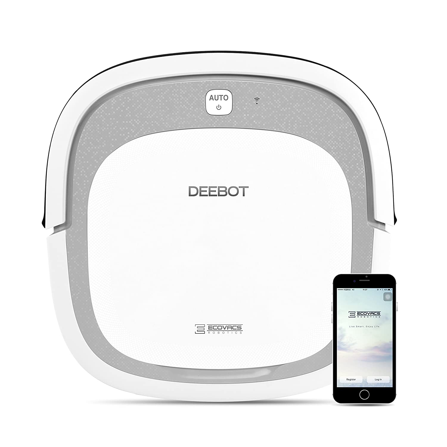 ECOVACS DEEBOT Slim2 Robotic Vacuum Cleaner for Bare Floors Only with Dry Mopping Feature Ecovacs Robotics Inc DA5G