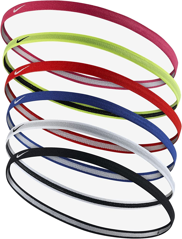 Nike Girl's Swoosh Sport Headband 2.0, 6 Pack