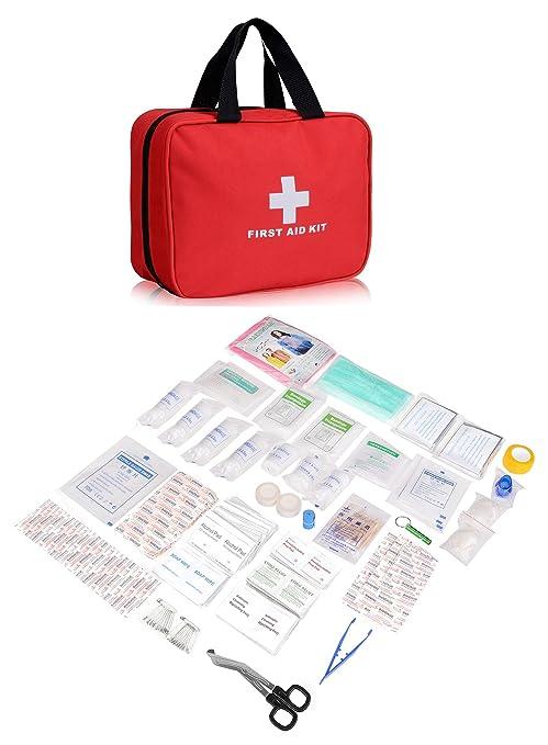 51 opinioni per Plusinno® 280 Pezzi Mini Compact Kit di primo soccorso Sacchetto medico di