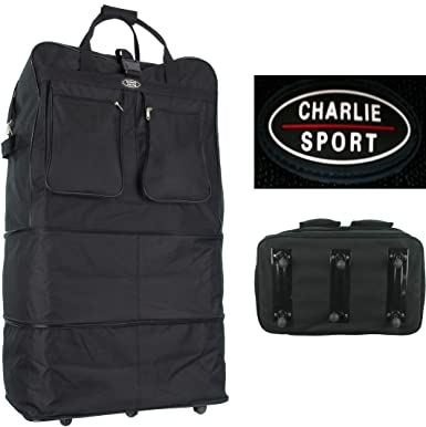 Image Unavailable. Image not available for. Color  Charlie Sport 40 quot  Rolling  Wheeled Duffel Bag Spinner Suitcase Luggage 069ebc053fa17