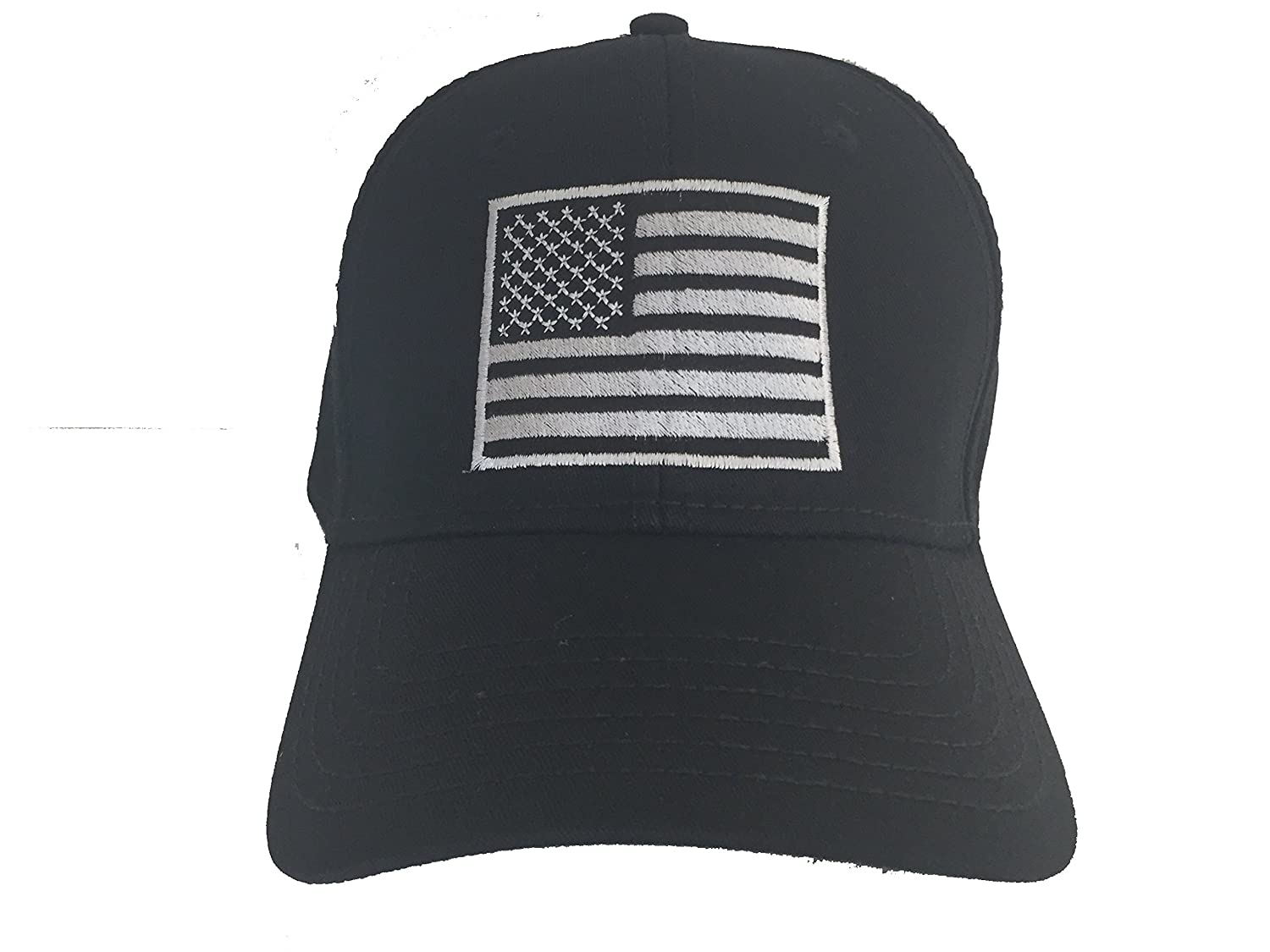 country flag hats one size fits most black usa flag on black at
