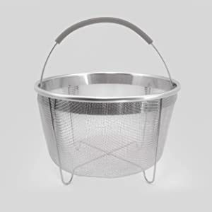 ExcelSteel 3.75 Qt, Rinse Drain Sift Sieve Kitchenware Perfect for Pressure Cookers Strainer Basket Insert, 8.25