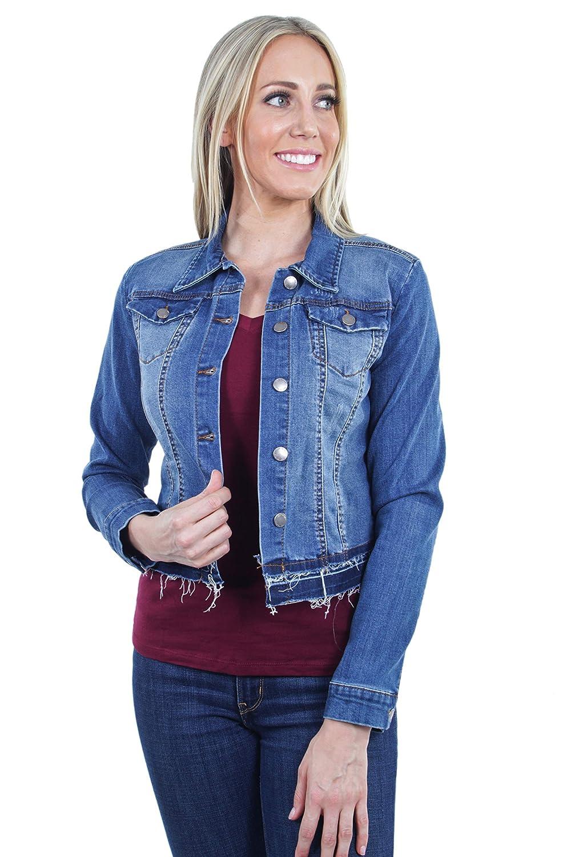 Women's Plus//Junior size Sleeveless Button Up Cropped Denim Vest Jacket