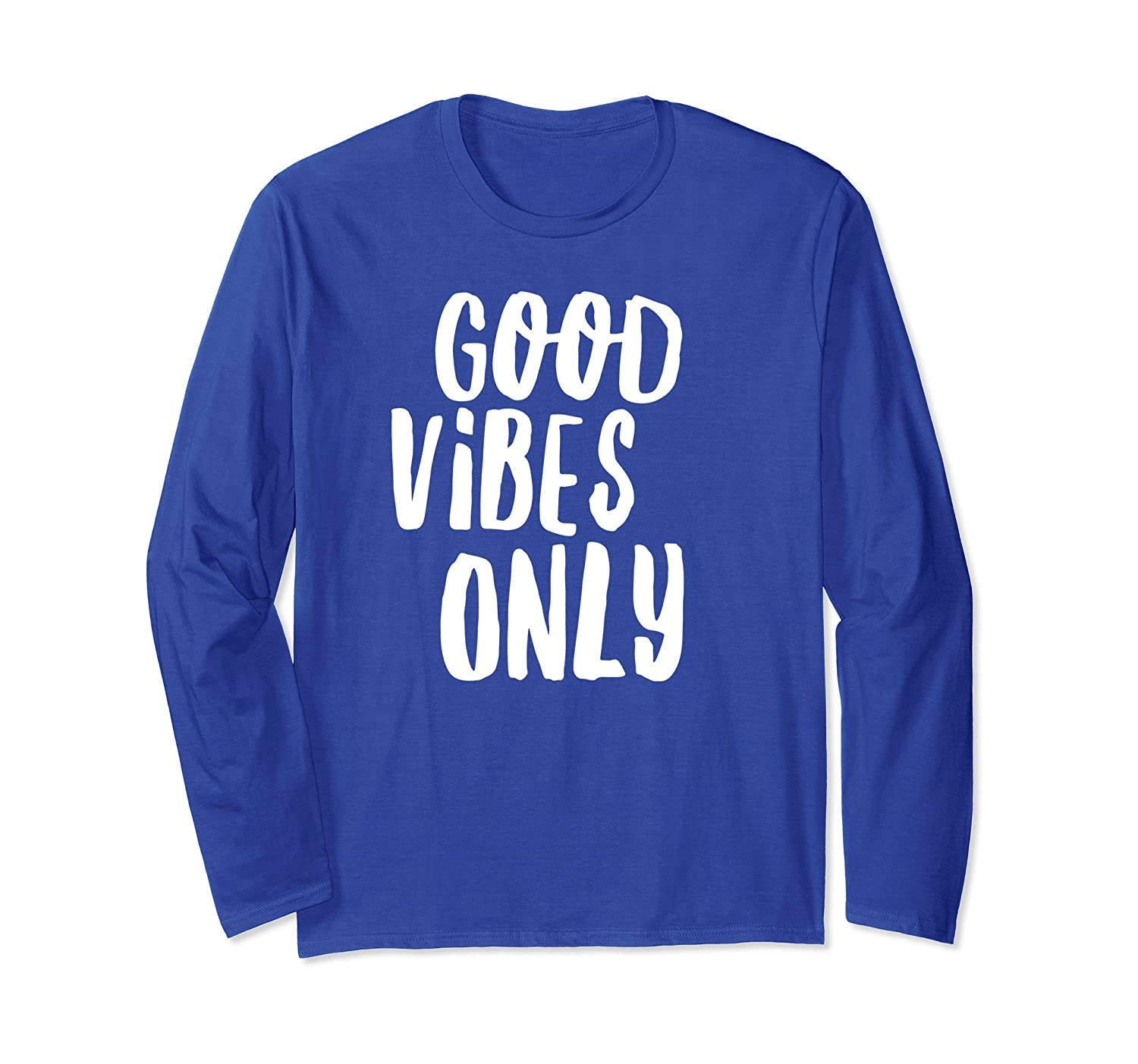 Cool Yoga Style | Good Vibes Only Long Sleeve Shirt-mt