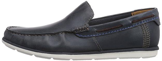 Clarks Kelan Lane, chaussures bateau homme - Marron - Braun (Dark Brown Lea), 44 EU
