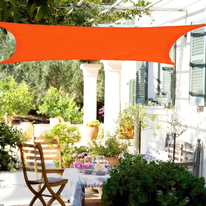 CAIJUN Vela De Sombra Malla Sombra Toldo De Coche Pérgola Sombra del Patio Impermeable Protector Solar Anti-UV Antiedad, 4 Colores (Color : Orange, Size : 2x4m): Amazon.es: Hogar