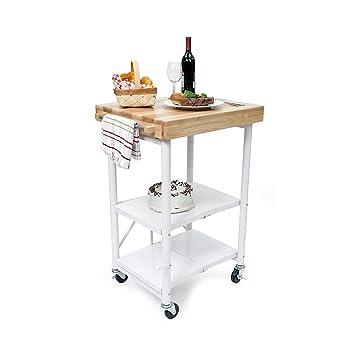 origami rbt 04 foldable kitchen island cart white amazon com  origami rbt 04 foldable kitchen island cart white      rh   amazon com