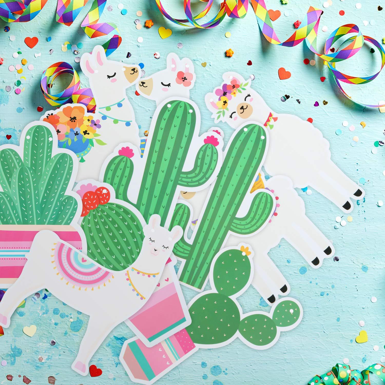 6 Pi/èces Banni/ère Lama Cactus Banni/ère Llama D/écoration de F/ête Banni/ère Fiesta Cactus pour Lama Cactus Th/ème Anniversaire Graduation Mexicain Fiesta Mariage Baby Shower Articles de F/ête