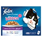 Felix Kitten As Good As It Looks Cat Pouches Mixed In Jelly 100g (48 Pouches)