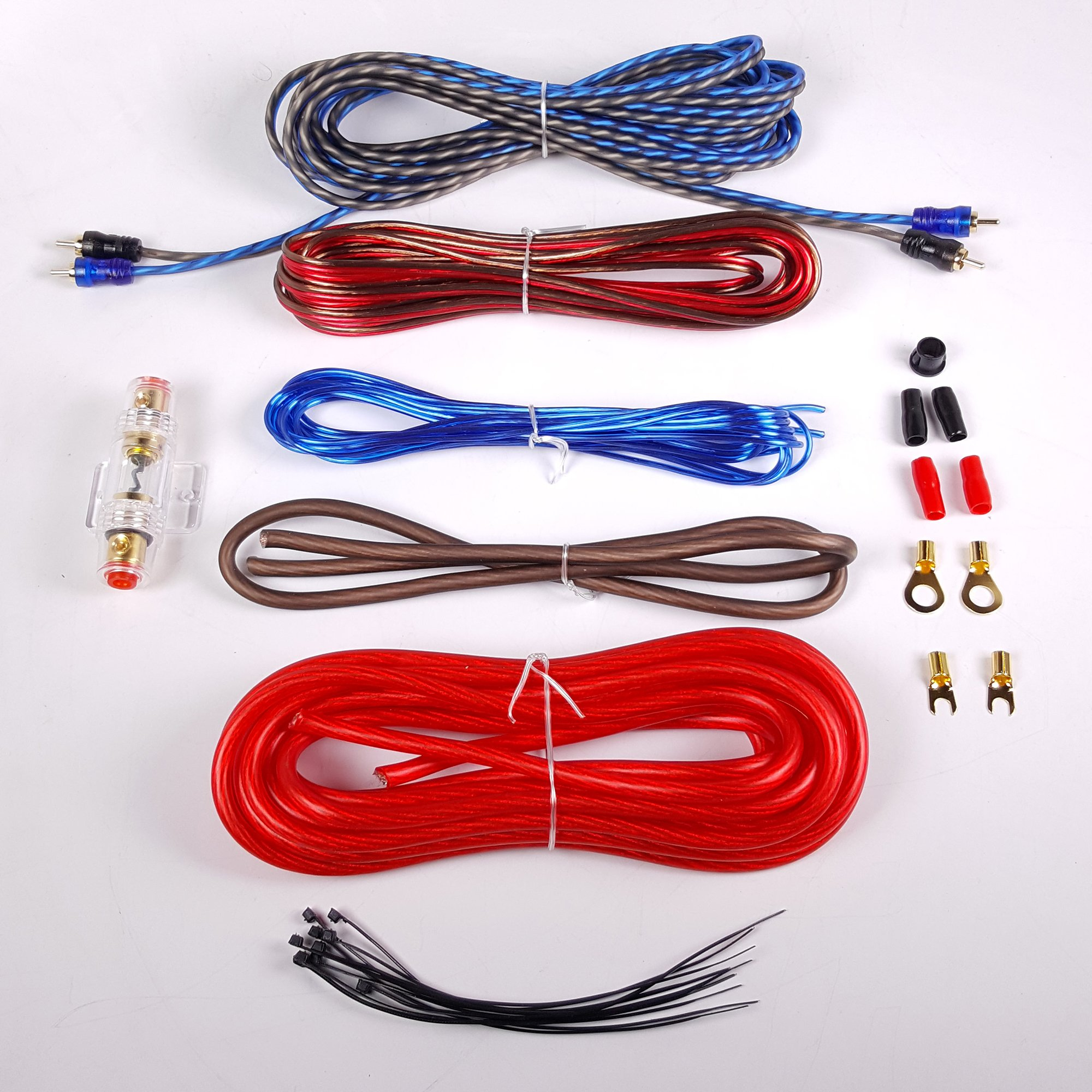 Gravity BGR-KIT8R 8 Gauge Amplifier Installation Kit with High Performance RCA and Speaker Wire