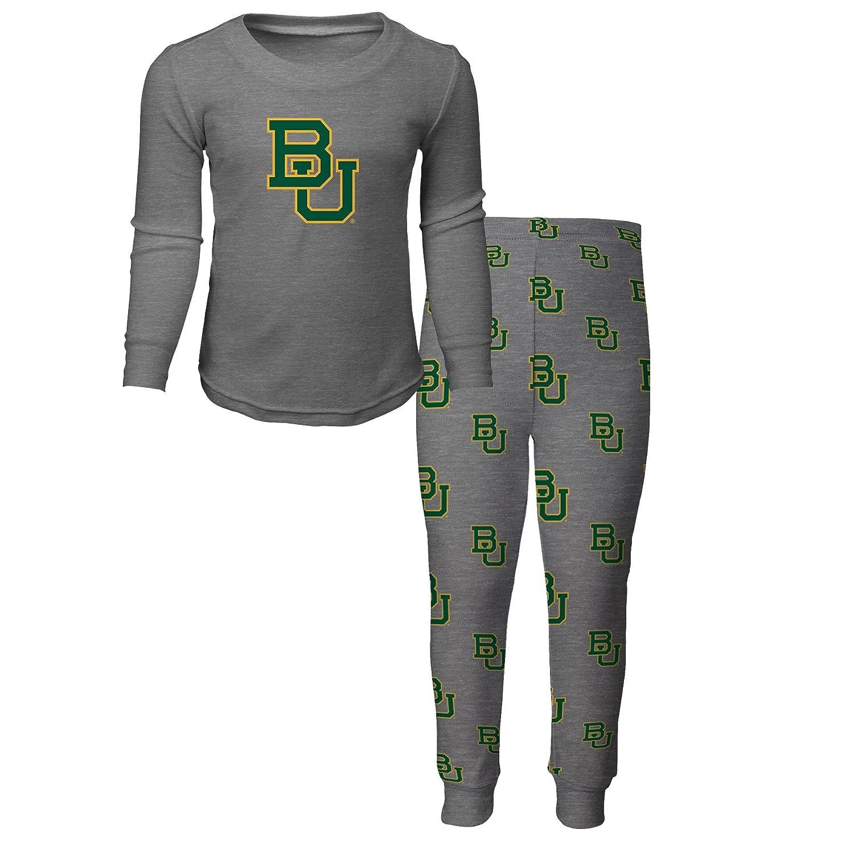 3T NCAA by Outerstuff NCAA Baylor Bears Toddler Long Sleeve Tee /& Pant Sleep Set Heather Grey