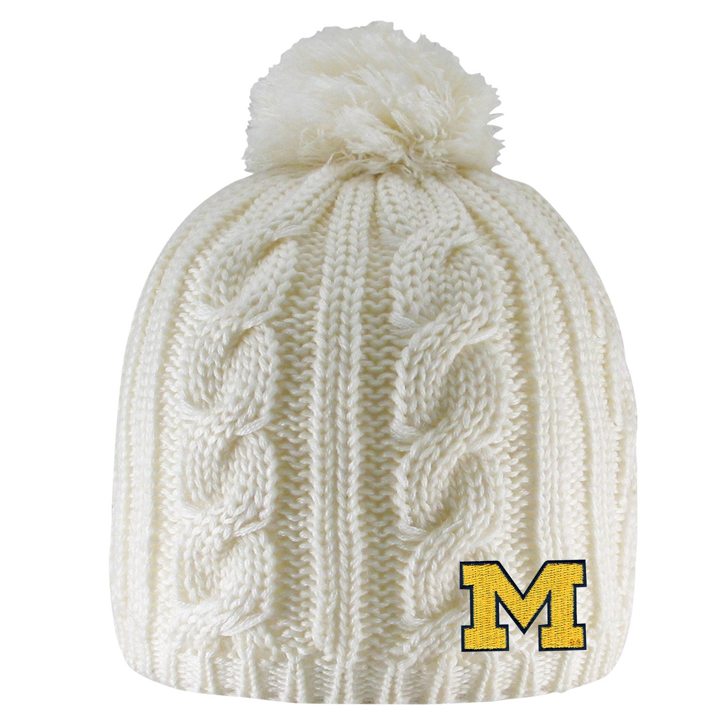8546a1bf6ec Amazon.com   University of Michigan Cumberland Pom Pom Beanie   Sports    Outdoors