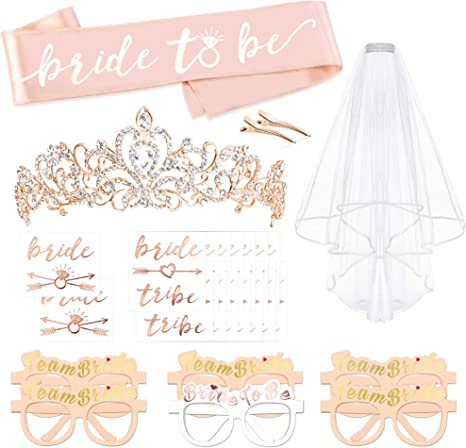 6 Pcs Bride To Be Team Bride Sash Wedding Bridal Shower Bachelorette Party Decoration Favor Gifts Supplies Accessories