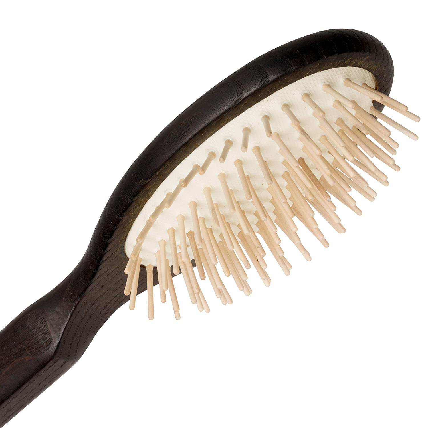 Redecker Maple Pin Oval Wooden Hairbrush with Oiled Thermowood Handle