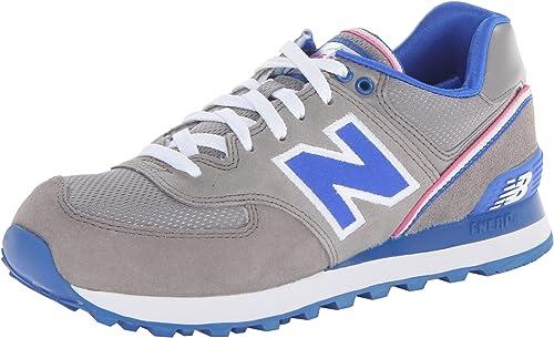 New Balance Damen WL574SJG Sneaker, grau/blau, 41.5 EU ...
