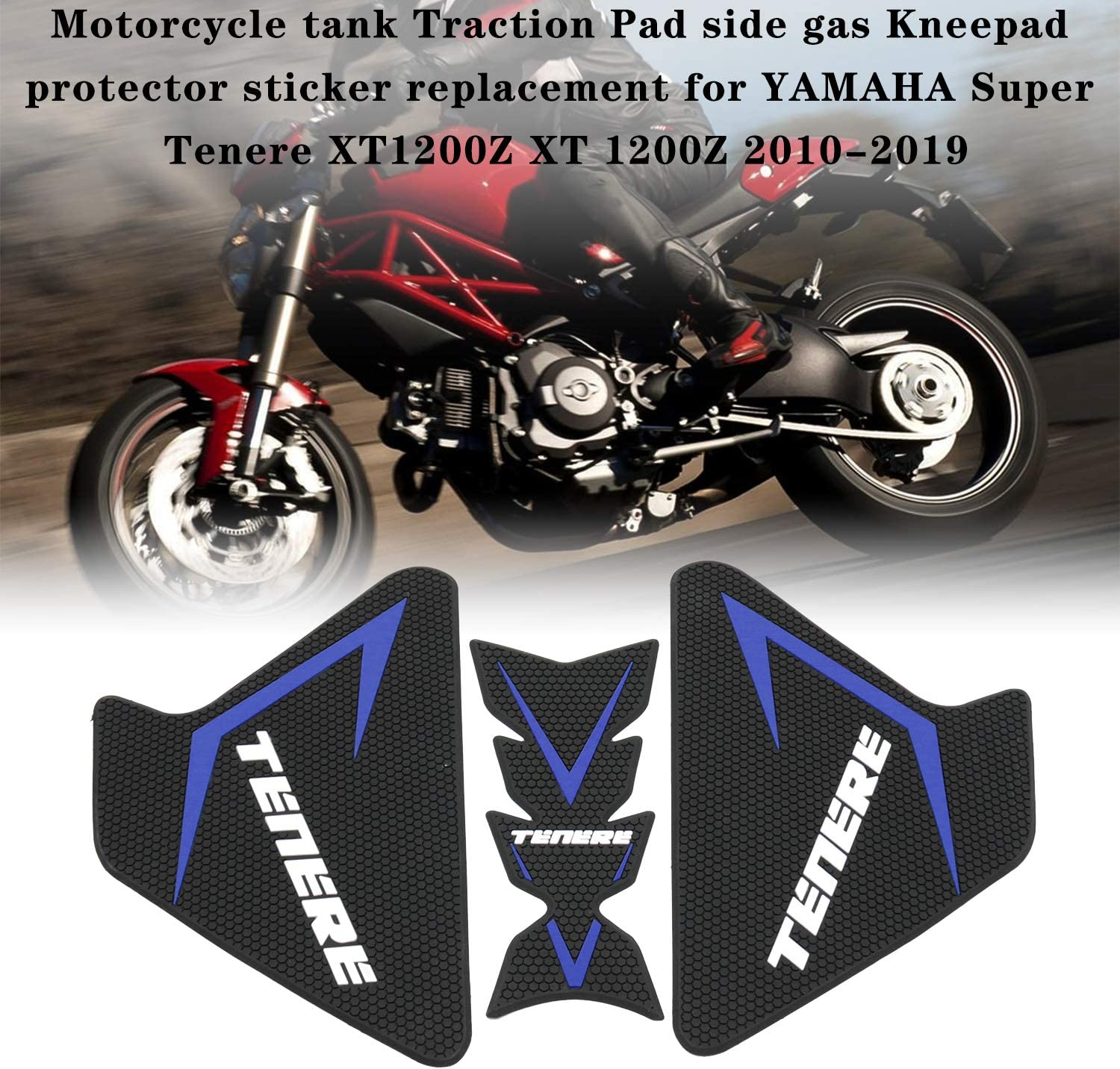 Motorcycle tank Traction Pad side gas Kneepad protector sticker replacement for YAMAHA Super Tenere XT1200Z XT 1200Z 2010-2019 Walmeck