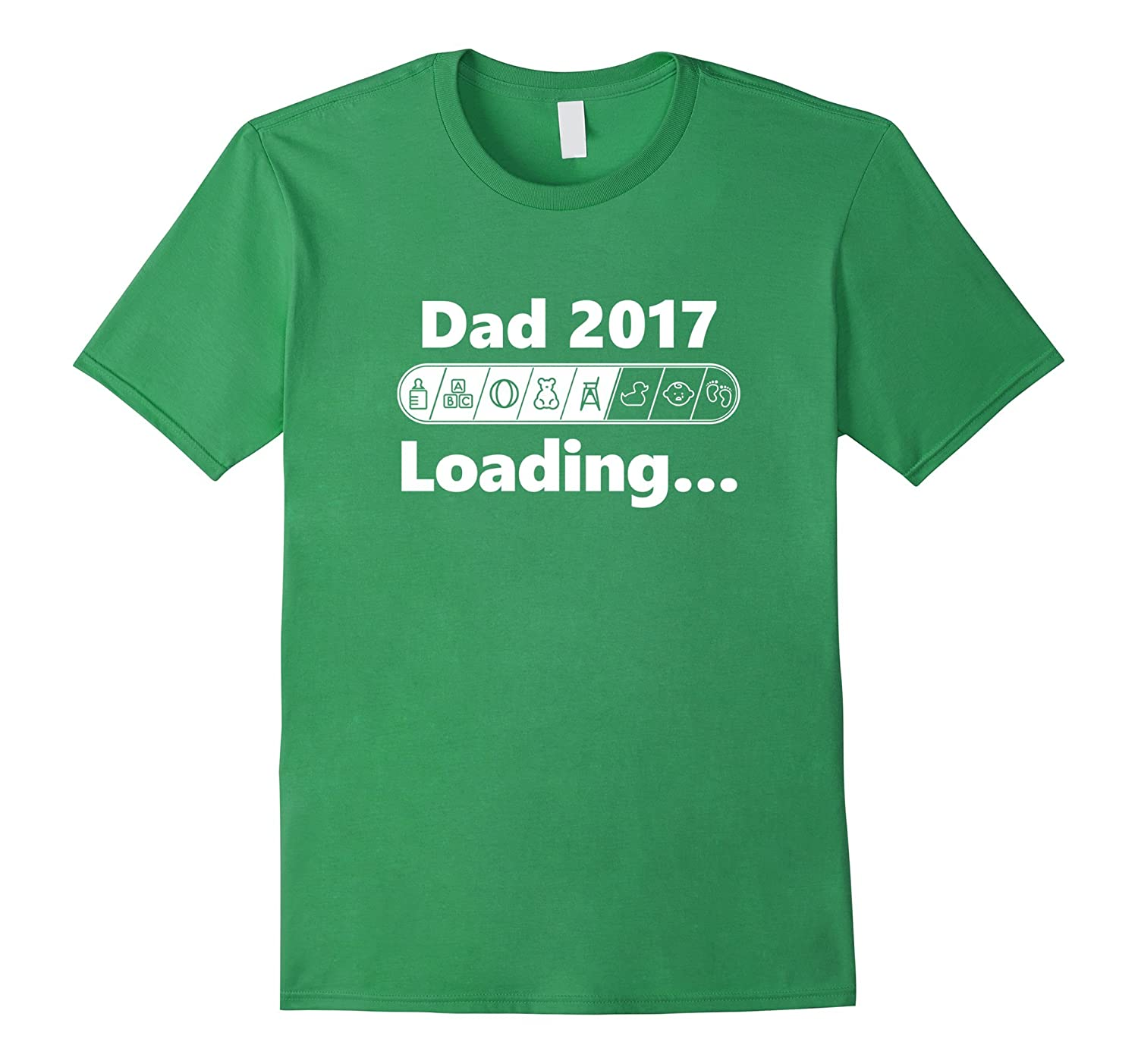 Dad 2017 Loading Cool  Funny Future Father T-shirt-TH