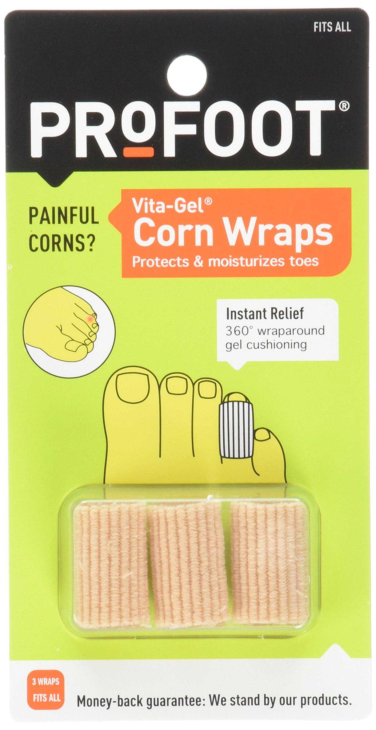 Profoot Care Vita-gel Corn Wraps, Natural (Pack of 4)