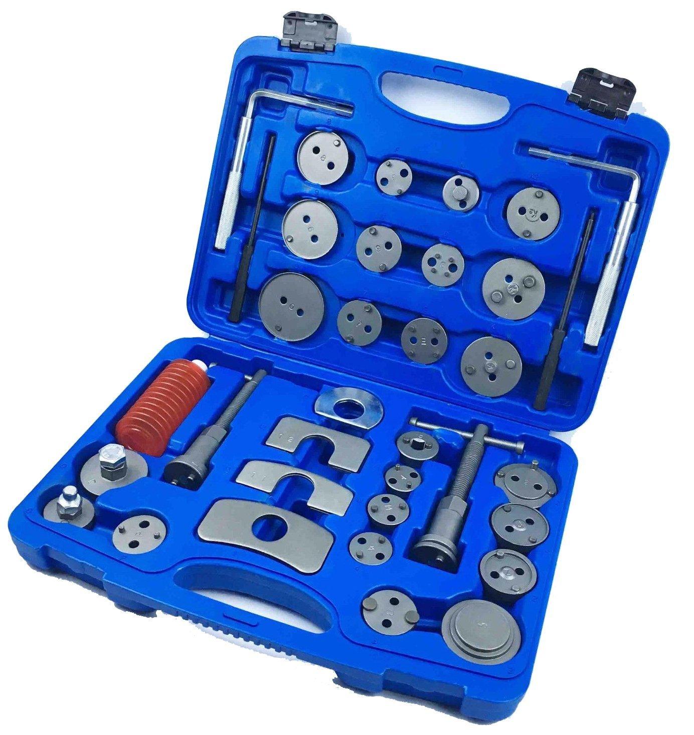 Brake Disc Caliper Wind Back Tool Kit - 35 Piece Universal Piston Rewind Set - Discs Break Pad Caliper Compressor Service Tools - by Jecr (Image #7)
