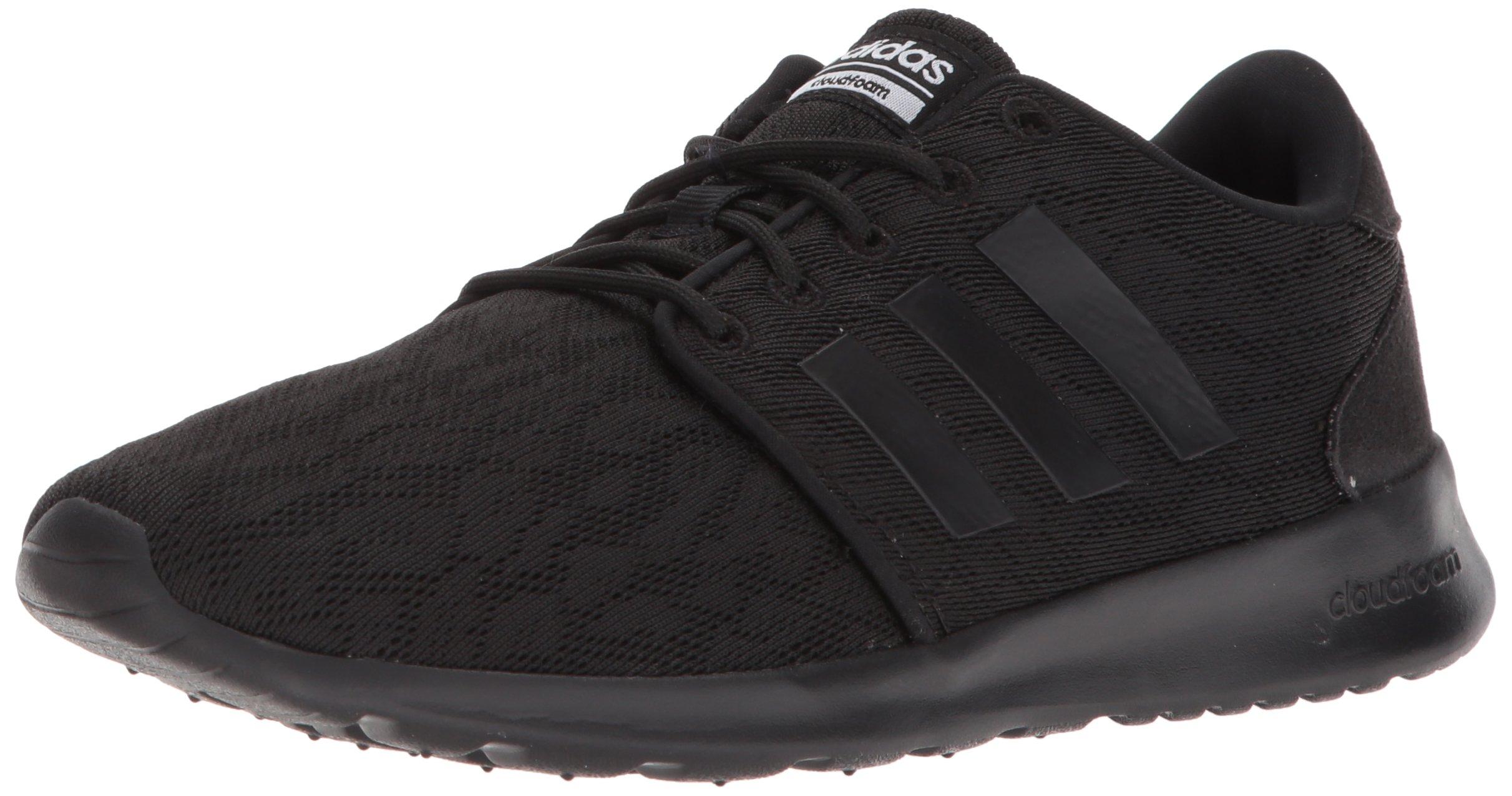 adidas Women's CF QT Racer W Sneaker, Core Black, Core Black,White, 6.5 M US by adidas