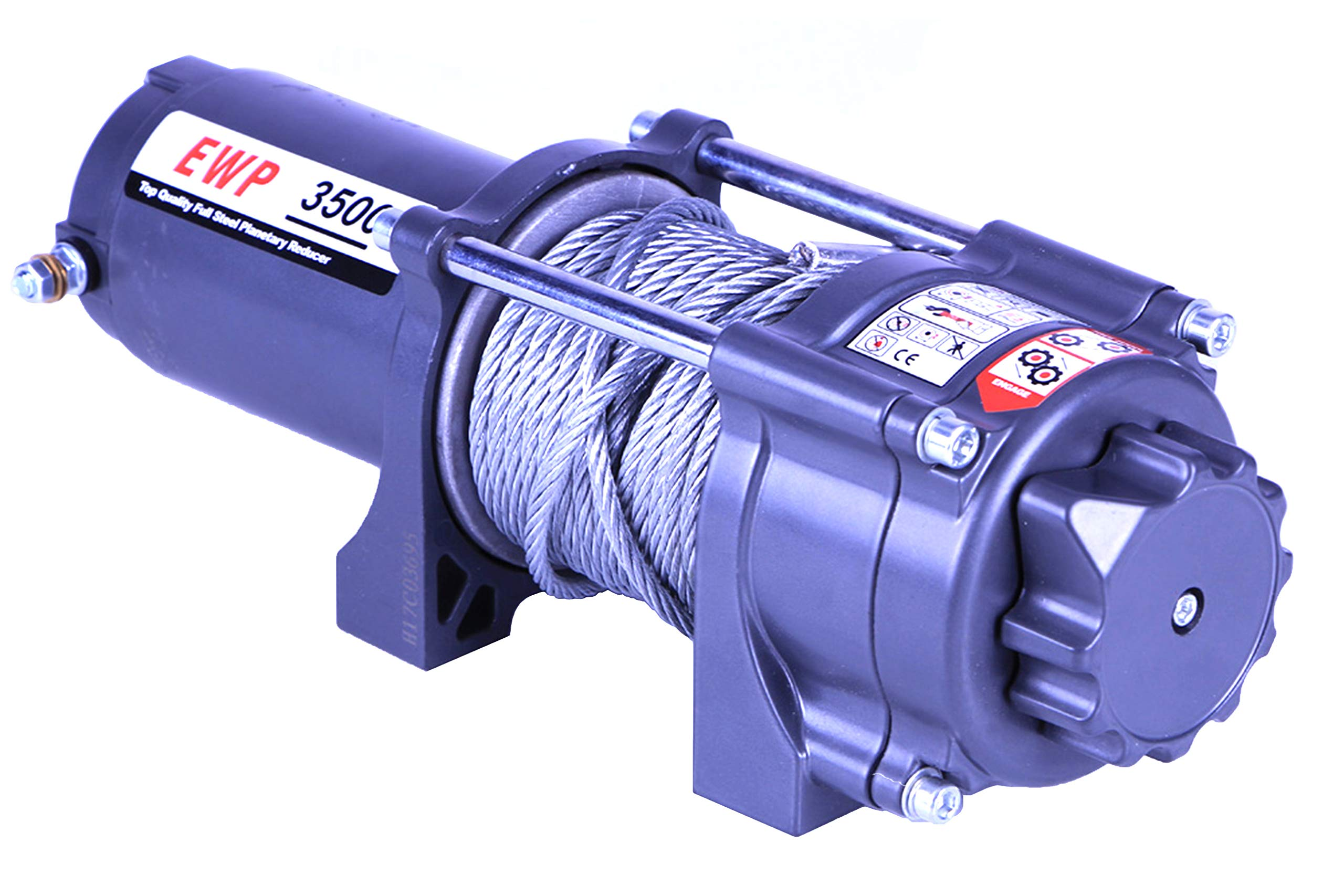 AC-DK 12V 3500lb ATV Winch UTV Winch Electric Winch Set for 4x4 Off Road (3500lb Winch with Cable) by AC-DK (Image #1)
