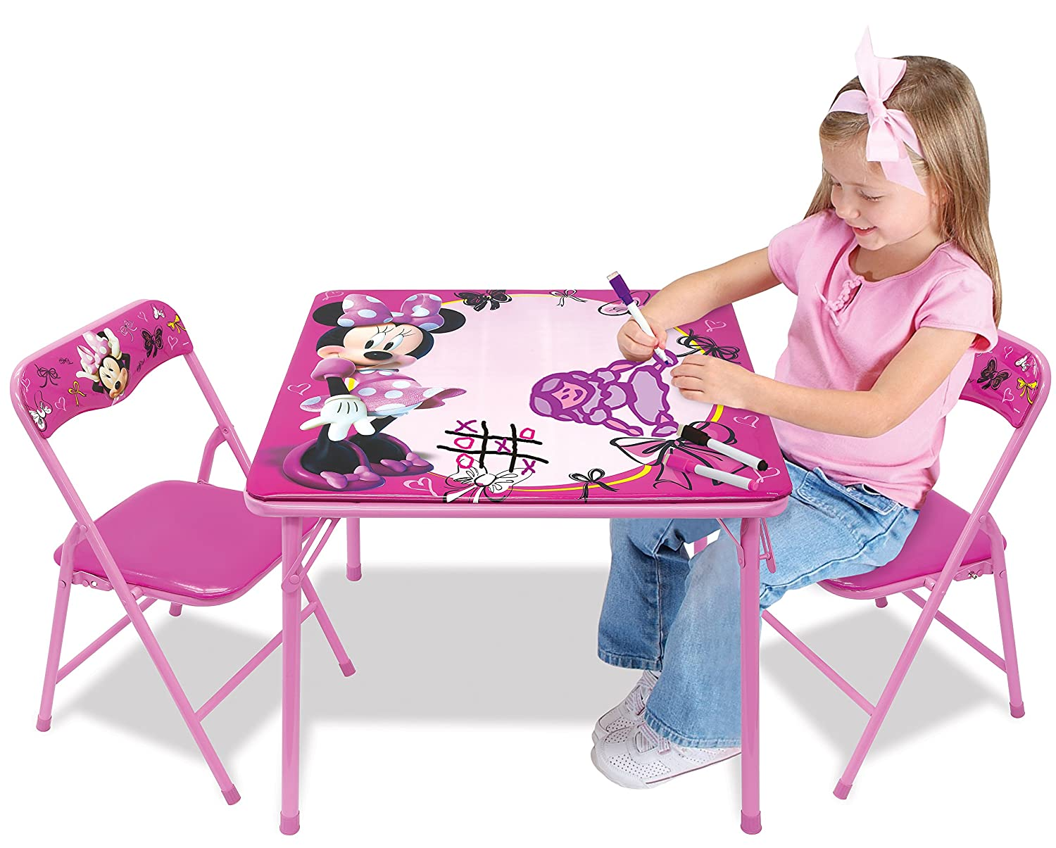 Minnie First Fashionista Erasable Activity Table Set with 3 Dry-Erase Markers by Minnie