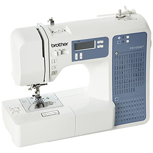 Brother FS100WT Machine á Coudre Électronique, avec Table d'extension Quilt e Patchwork ( 100 Points de Couture )
