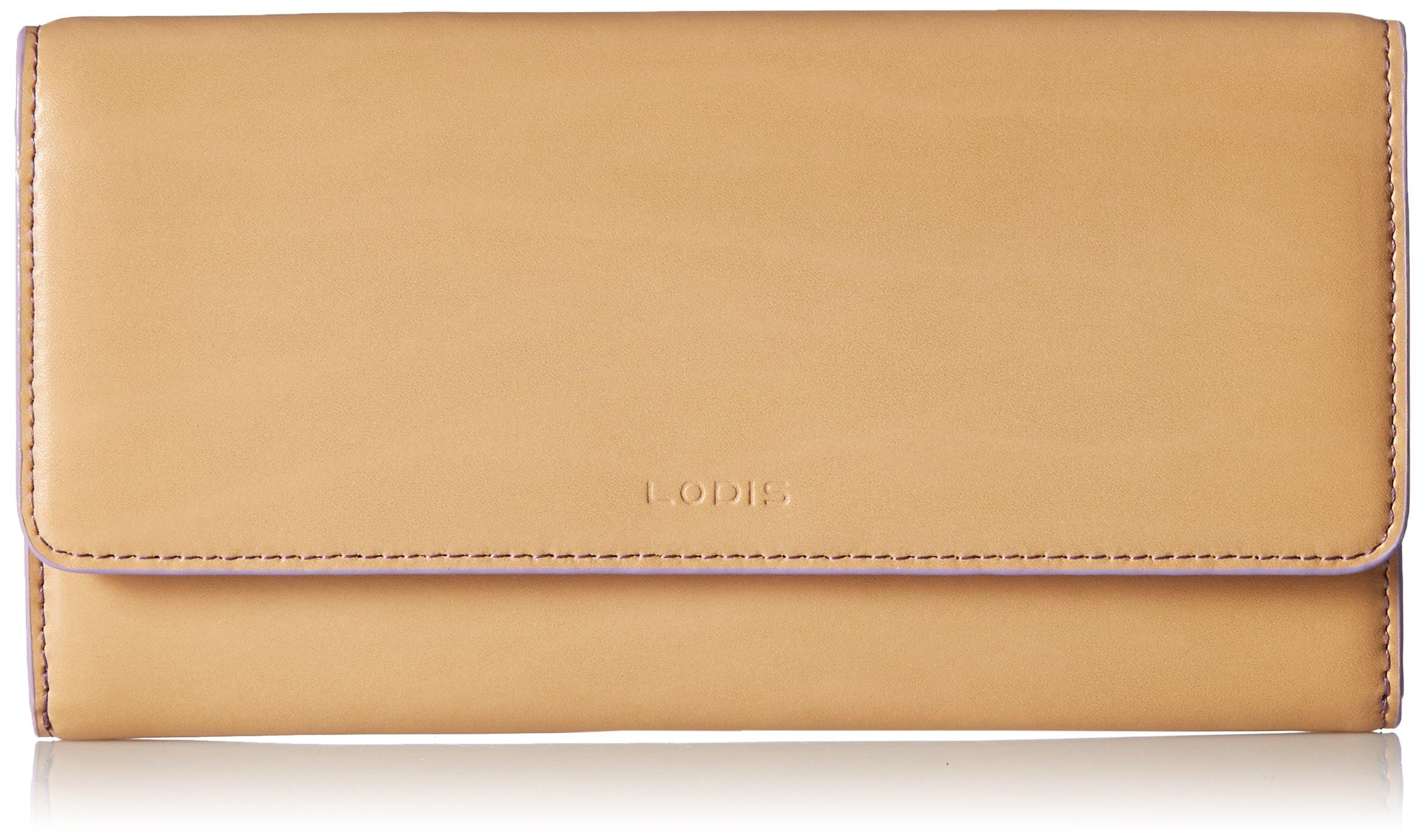 Lodis Women's Audrey RFID Luna Clutch Wallet, natural/lavendar One Size