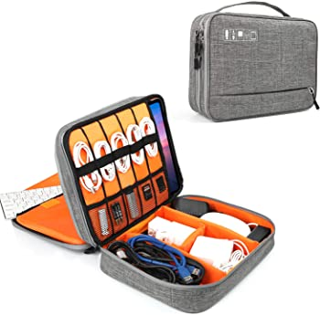 Vivefox Electronics Organizer Double Layer Cable (Gray)