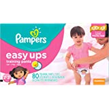 Pampers Girls Easy Ups Training Underwear 2T-3T (Size 4), 80 Count (Old Version)