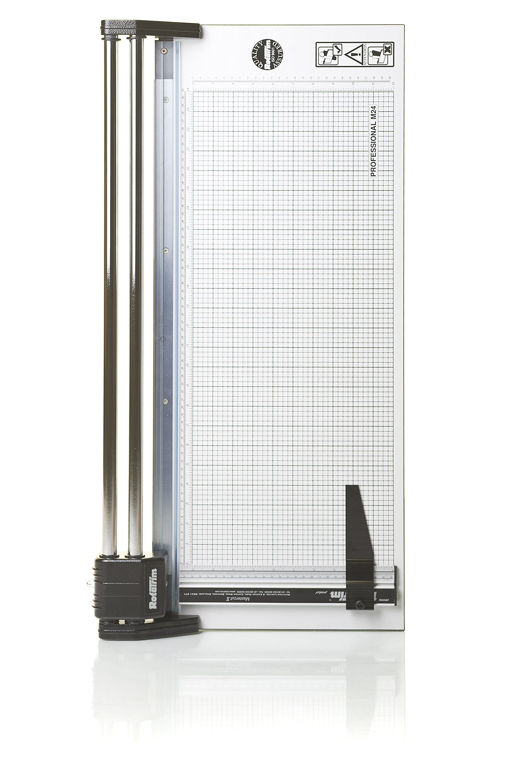 Rotatrim RC 24-Inch Cut Professional Paper Cutter/ Trimmer (RCM24) Precision Rotary Trimmer with Self-Sharpening Precision Steel Blades & Twin Chrome Steel Guide Rails by Rotatrim