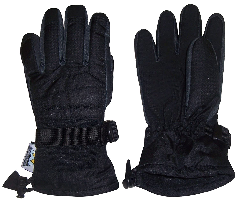 4521-BK-ML NIce Caps Mens Thinsulate and Waterproof Premium Winter Ski Gloves Black