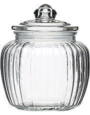 KitchenCraft Home Made Medium Glass Storage Jar, 1.4 Litres (2.5 Pints)